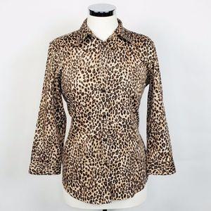 Ralph Lauren Animal Leopard Cheetah Print Shirt L